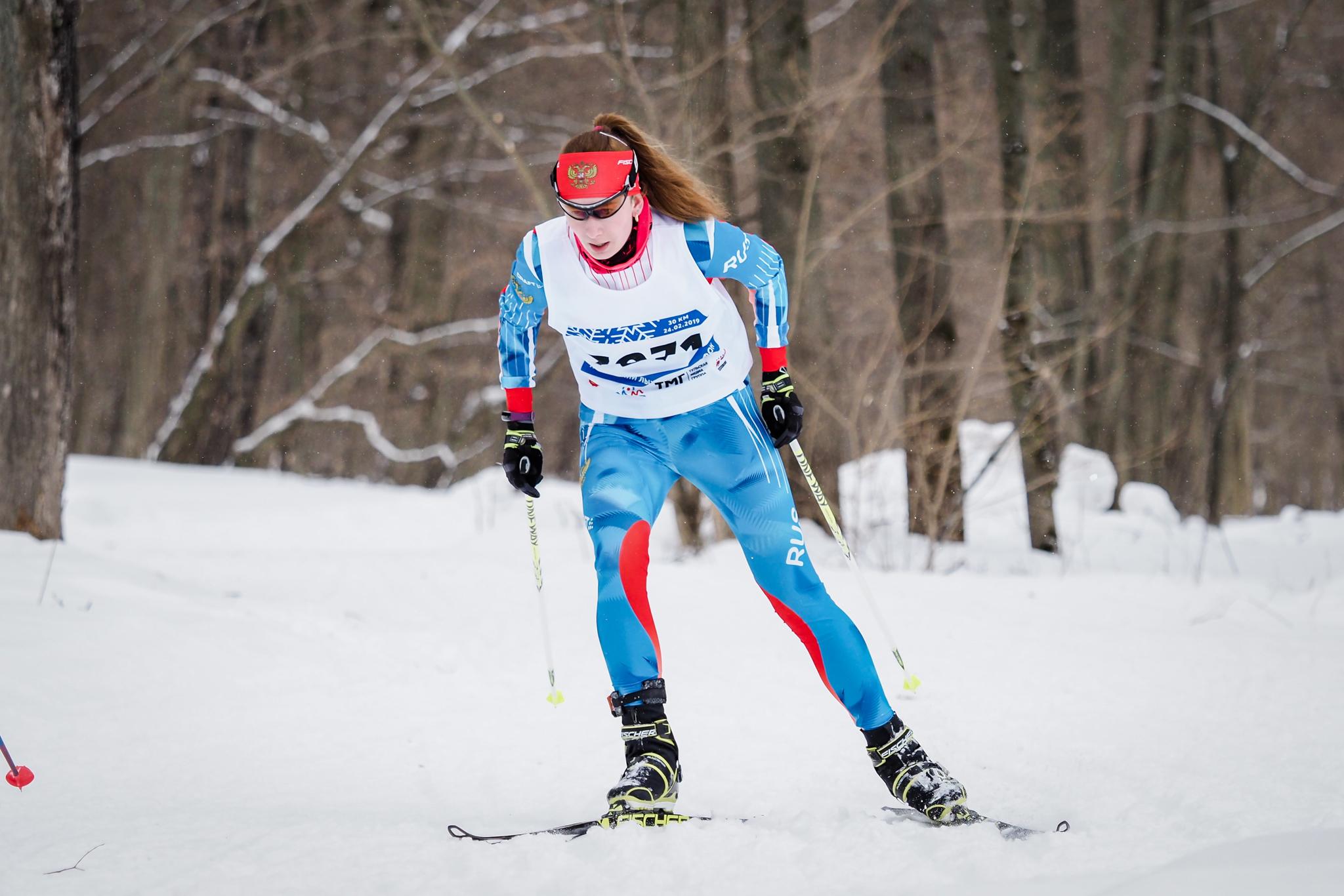 Победа Татьяны Яковлевой на II Тульском лыжном марафоне в Ясной Поляне