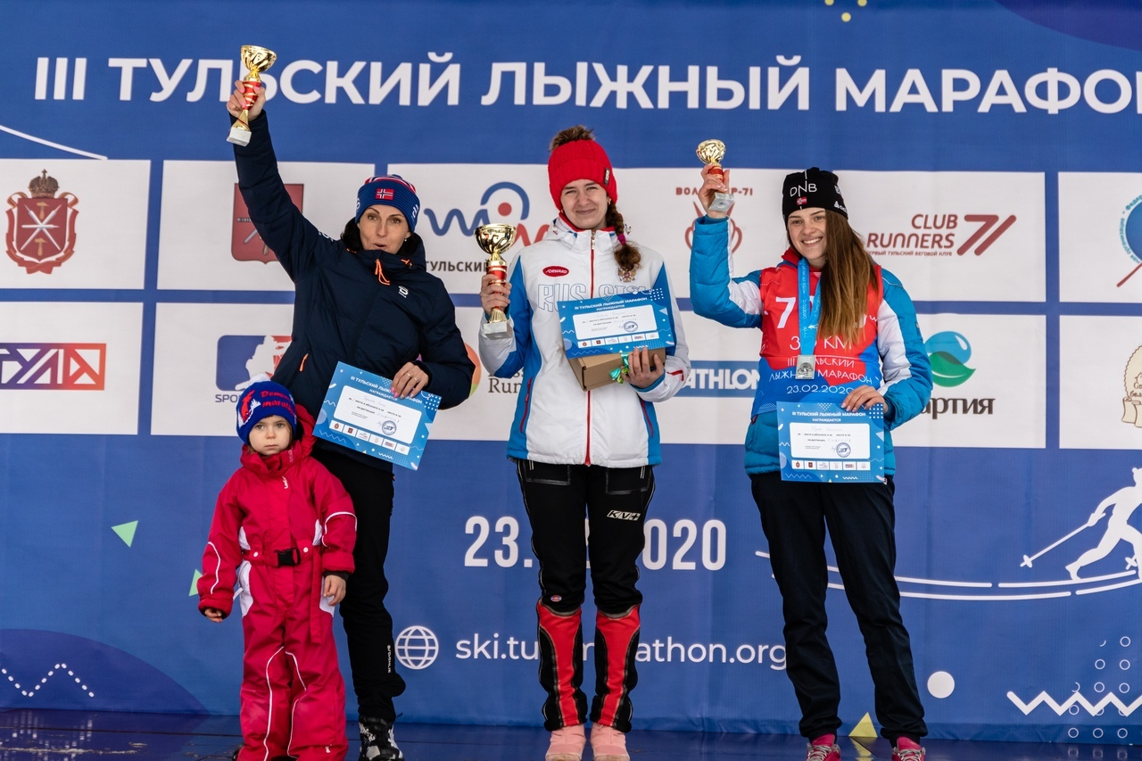 Татьяна Яковлева — победитель III Тульского лыжного марафона