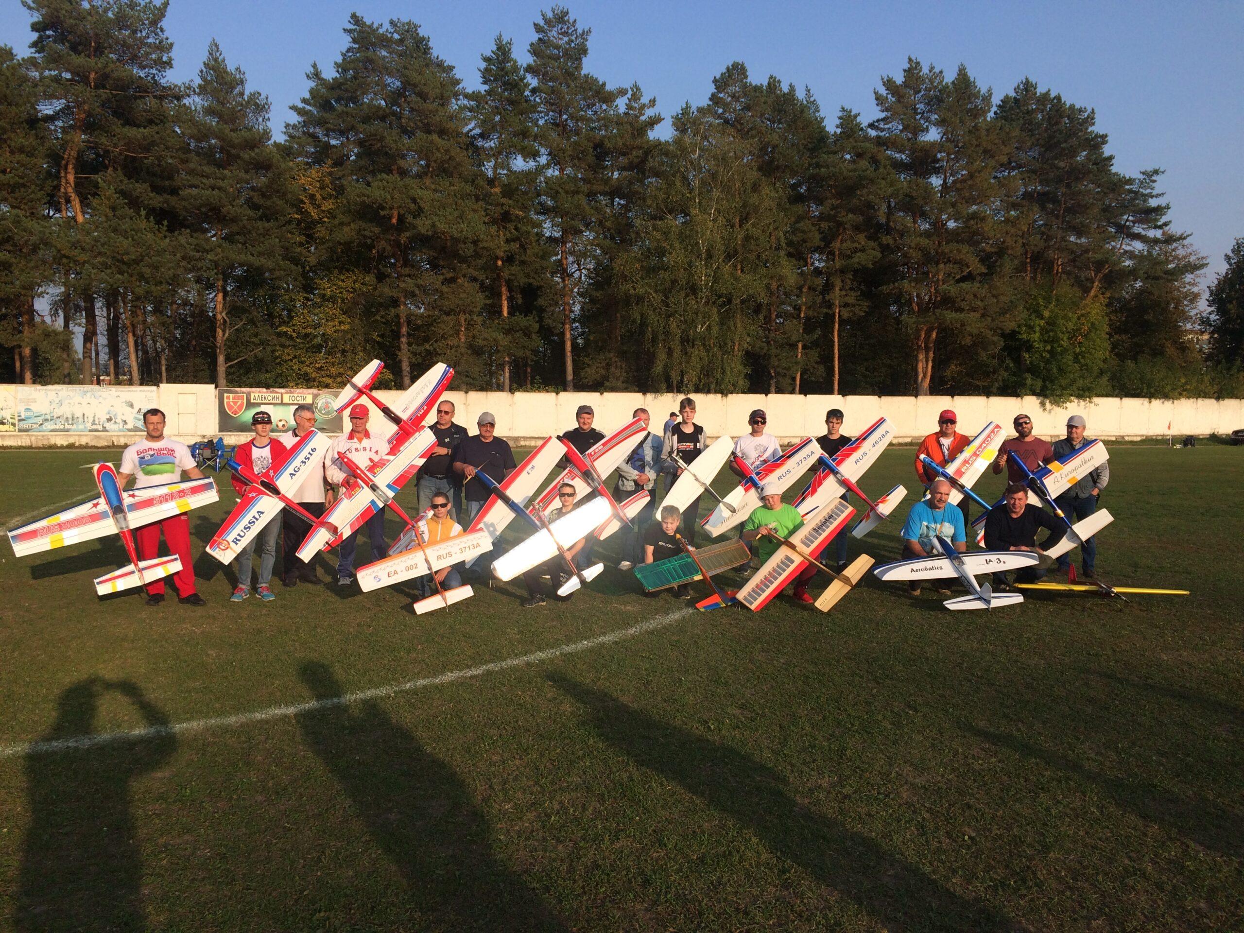 Всероссийские соревнования по авиамодельному спорту в классе пилотажных моделей F-2B в Алексине